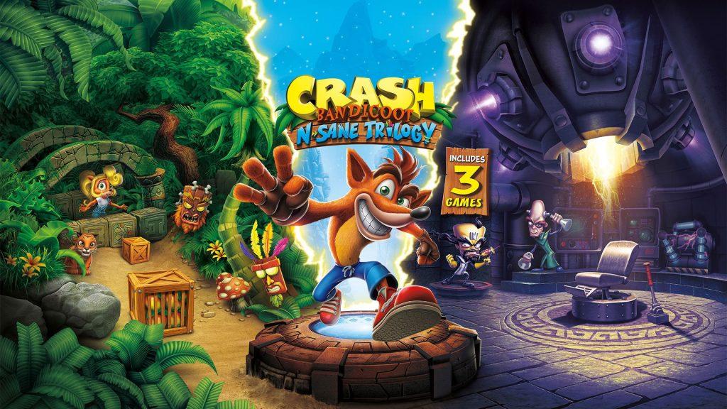 اکانت بازی بازی Crash Bandicoot N. Sane Trilogy برای PS4
